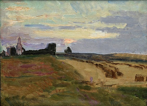 Landscape with a church. 1940