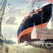 Launch of the nuclear-powered vessel Lenin