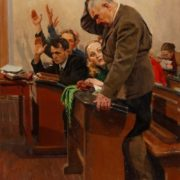 Lesson. Evening school. 1955