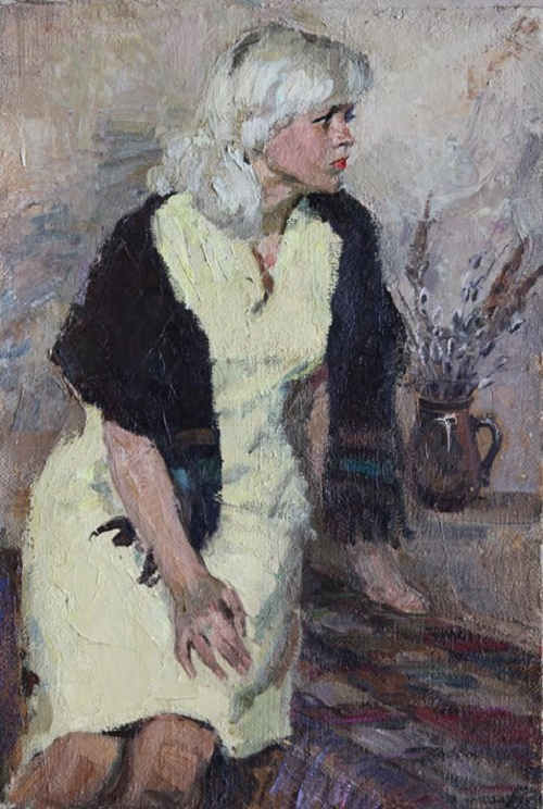 Lyucia, 1986. Soviet artist Margarita Dmitrievna Ruban (May 1, 1934 - October 21, 2011)