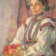 Mari El woman. Oil. 1925