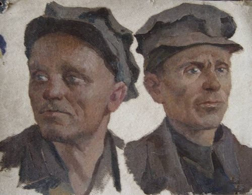 Miners. 1962, sketch