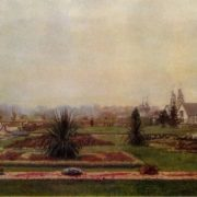 Morning in the Central Park of Gorky in Moscow. 1937. Tretyakov gallery