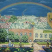 Moscow landscape. Rainbow. 1908