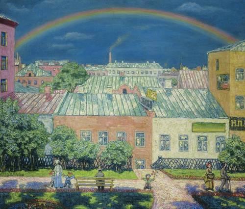 Moscow landscape. Rainbow. 1908