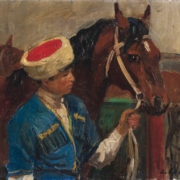 Murat with Kazbek. 1963. Oil on cardboard