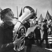 Musicians at the parade. 1970s