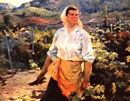 Soviet Ukrainian artist Nikolai Chuprina (May 13, 1928 - 2000)