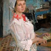 Nadya Mudrik. Portrait of cook of canteen 'Bolshevik', 1969