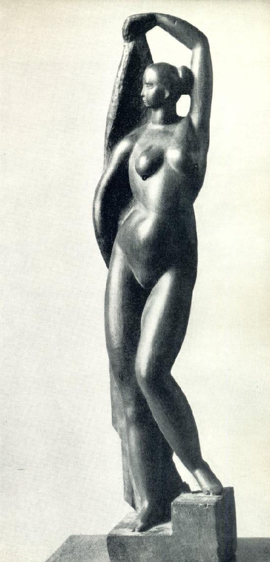Naked girl. Wood. 1922