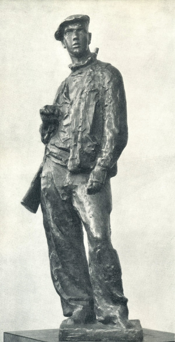 Osoaviakhimovets (member of the Society for Assistance to Defense, Aviation and Chemical Construction). Bronze. 1932