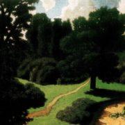 Park. Summer landscape. 1919. TG