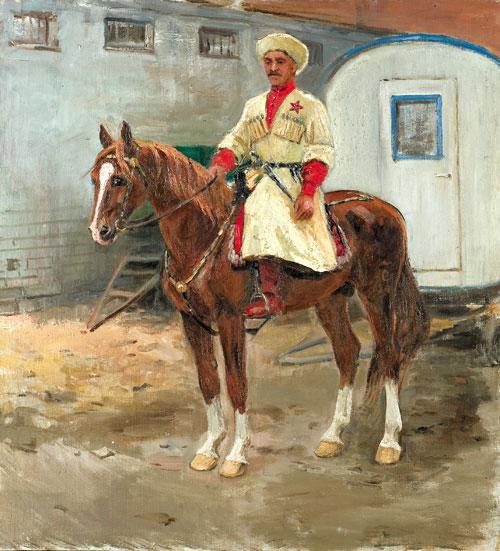 People's Artist Kantemirov. Oil on cardboard