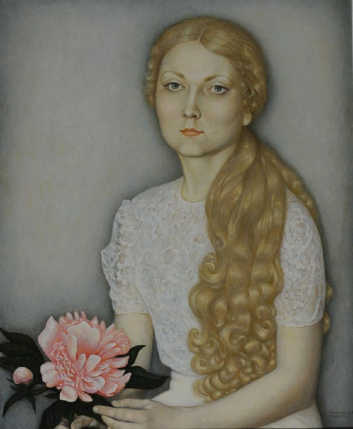 Portrait of Elena Kalinina. 1975
