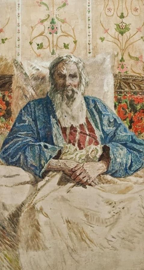 Portrait of the sculptor Konenkov, 1971