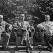 Potsdam. The Big Three - Churchill-Truman-Stalin. June 1945