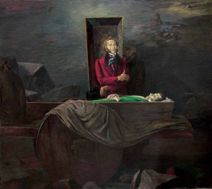 Pushkin at the Griboedov's Coffin