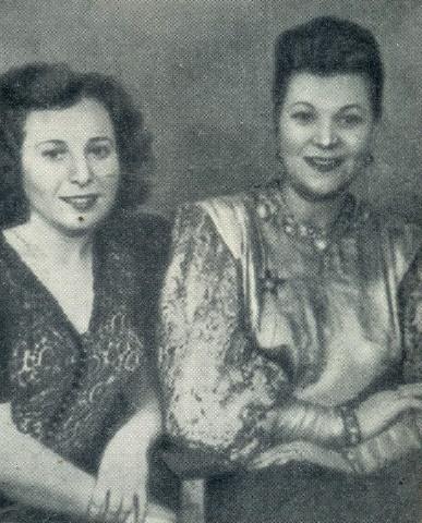 Raisa Branovskaya and Shulzhenko in Komsomolskaya Pravda