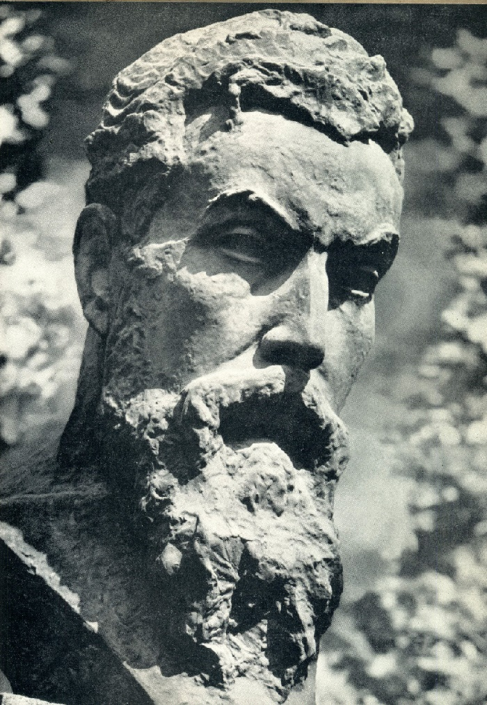 Roentgen monument in Leningrad. Bronze. 1927