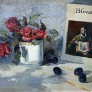 Roses, plums and El Greco. Still life. 1973
