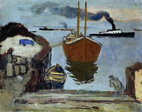 Evening in the port. Arkhangelsk. 1932