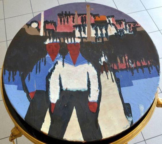 Sailors. Porcelain plate