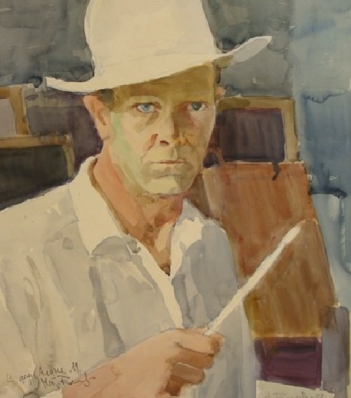 Self-portrait 'I am forty'. 1956