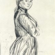 Estonian woman. 1970. Charcoal, sanguine (2)
