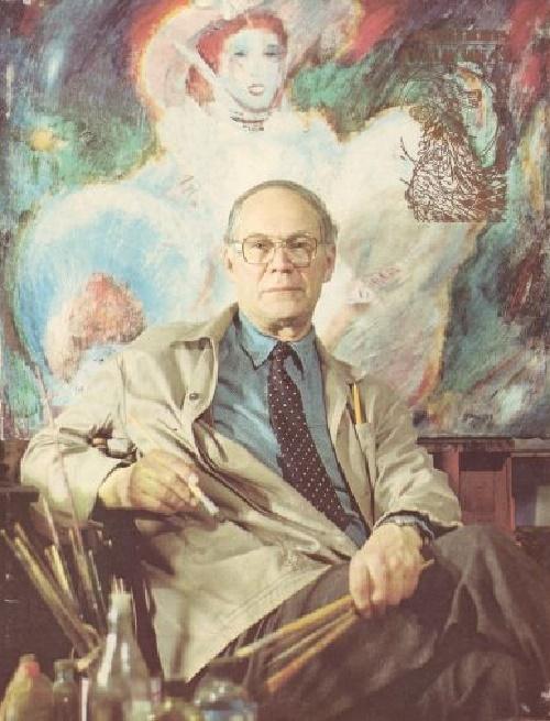 Soviet Estonian artist Evald Okas (28 November 1915 – 30 April 2011)