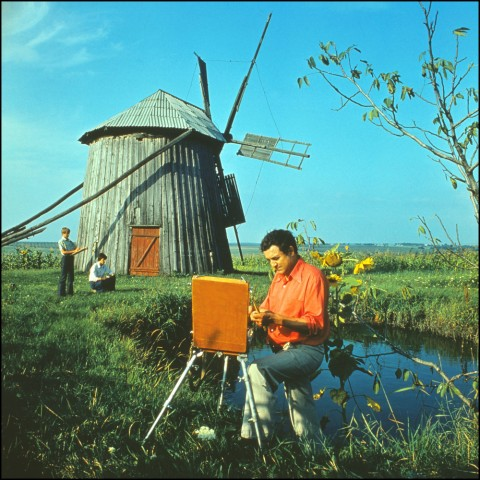 Soviet Moldavian artist Igor Vieru