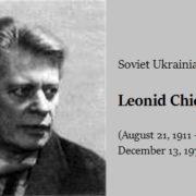 Soviet Ukrainian artist Leonid Chichkan