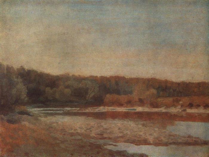 Spring in Kashira. 1917