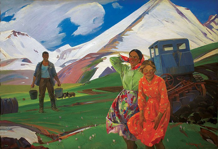 Spring in the mountains. 1960
