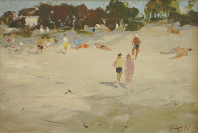 Sunny day at the seaside. 1955