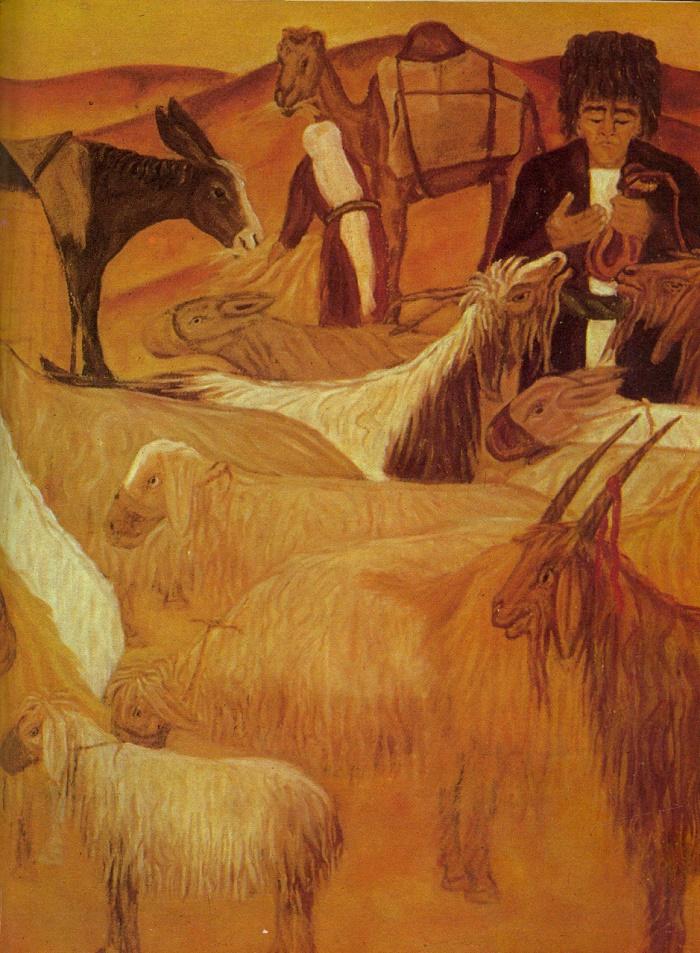 T. Esenmamedov. Shepherds. 1975