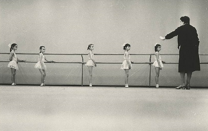 The Central Palace of Pioneers on the Lenin Hills. Ballet lesson. 1962