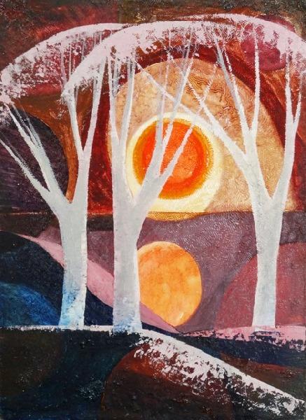 The Sun. 1964. Oil, cardboard