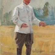 The groom of Budyonny. Oil on cardboard. Study for the painting