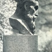 The monument to V.K. Roentgen in Leningrad. Bronze. 1927
