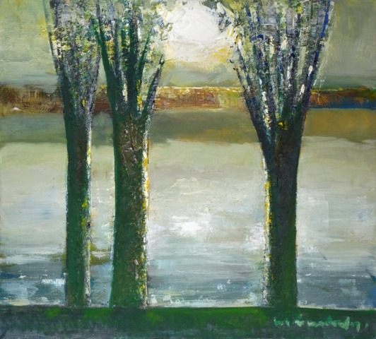 Trees and sun. 1985. Oil, canvas