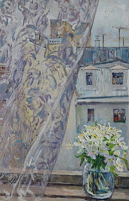 View from the window. Still life