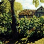 Village in summer. 1927. TG