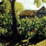 Village in summer. 1927. TG