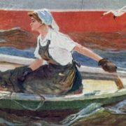 Volga woman. 1950s