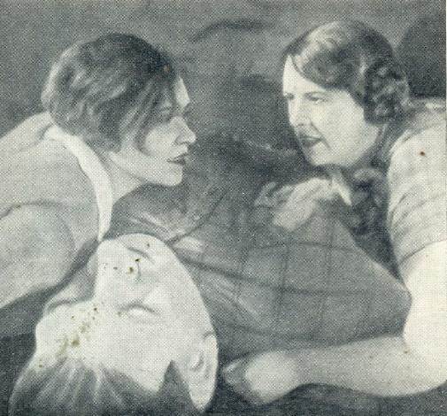 Who is your friend. Film. Left - Soviet female singer Klavdiya Shulzhenko