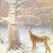Winter evening. 1974. N.M. Nosenko