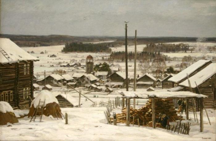 Winter in Andrichev, 1985