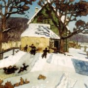 Winter landscape. 1919. Saratov art museum