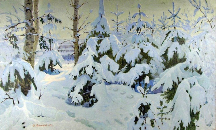 Winter landscape. 1957