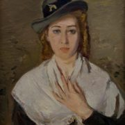 Woman in a white kerchief